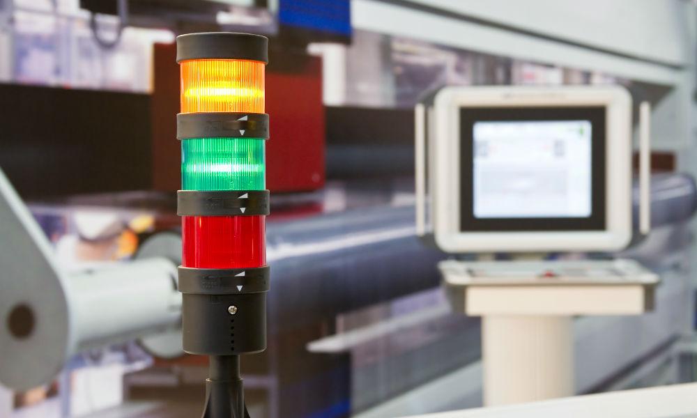 Technische Signalanlage im Warenlager