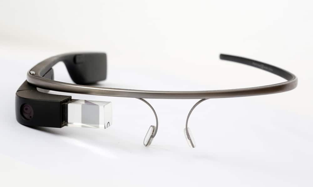 Google Glass 1 in der Frontansicht.