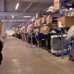 Großteillager der EF-Logistik in Karlsruhe.