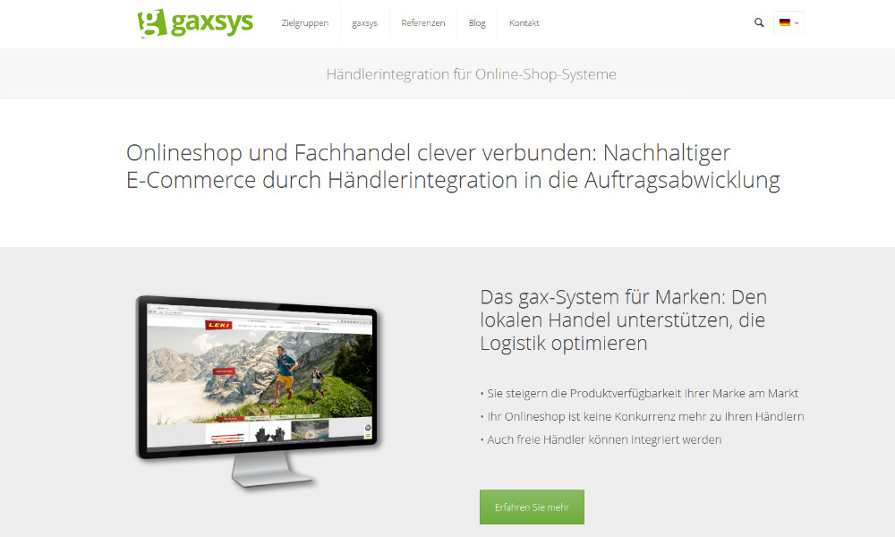 gaxsys präsentiert Website-Relaunch: Tochterunternehmen von DR. THOMAS + PARTNER setzt auf klaren Informationsfluss