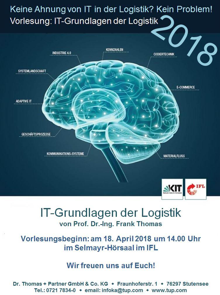 KIT-Vorlesungsprogramm Karlsruhe - Intralogistik und Logistik im Zeitalter von Industrie 4.0.