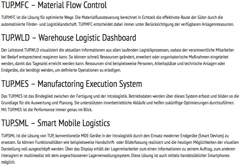 Dr. Thomas + Partner zeigt auf der LogiMAT 2018 in Stuttgart auch seine bewährten Softwarelösungen rund um Materialfluss und Lagerverwaltung.