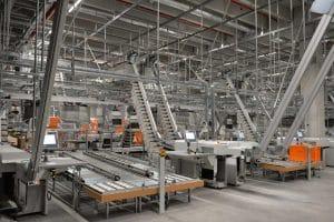 Der Taschensorter von Zalando in Lahr ist ganz eng mit dem Materialflussrechner von TUP verknüpft.