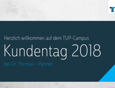 Am 19. September 2018 findet zum zweiten Mal der TUP-Kundentag statt.