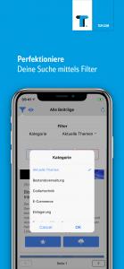 Der Filter innerhalb der App unterstützt verschiedene Modi.