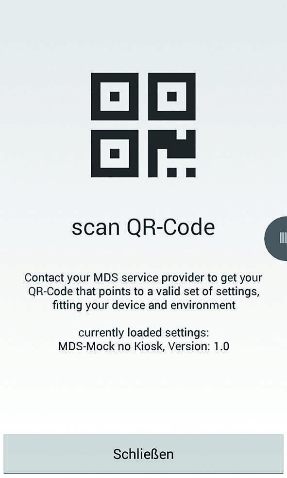 TUP.MAS - die Lagerverwaltung kann via QR-Code aktiviert werden.