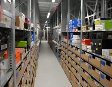 Materialflussrechner von TUP: Zalando setzt auf die chaotische Lagerhaltung.