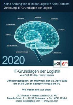 Poster zum Vorlesungsbegin 2020 von IT-Grundlagen der Logistik am KIT
