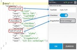 Screenshot Konfiguration TUP Smart Mobile Logistics MDE