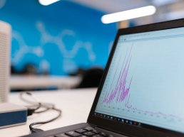 Laptop displaying a graph by ThisisEngineering RAEng
