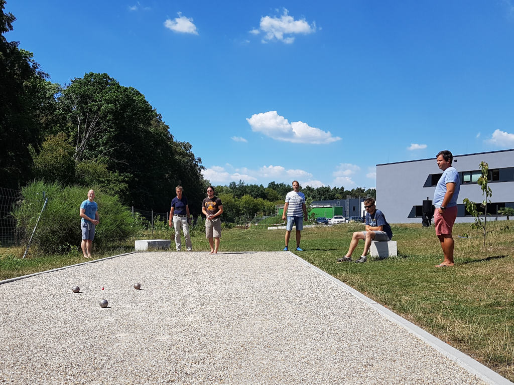 TUP Employees playing Boule